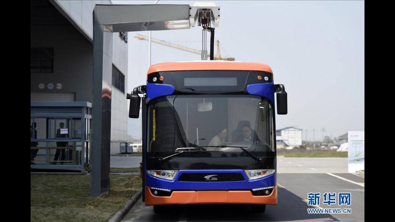 Dünya'nın En hızlı Şarj Olan Elektrikli Otobüsü 10sn'de Yola Çıkmaya Hazır
