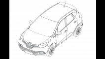 Renault Captur: i primi disegni