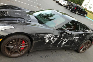 A Crazy Person Poured Paint Stripper on a 2014 Corvette Stingray