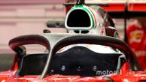 Le nouveau Halo sur la Ferrari