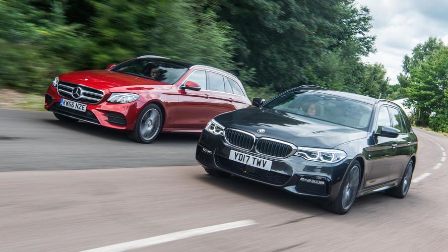 2017 BMW 520d Touring vs Mercedes E220d Estate vs Volvo V90