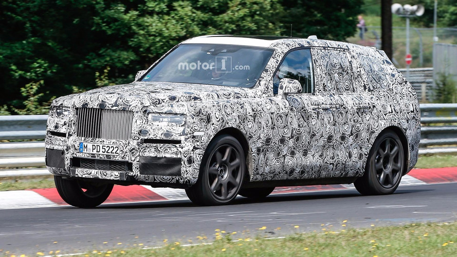 Rolls-Royce Cullinan SUV Caught Racing On The 'Ring