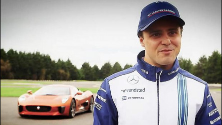 Jaguar C-X75, Felipe Massa guida quella di 007 [VIDEO]