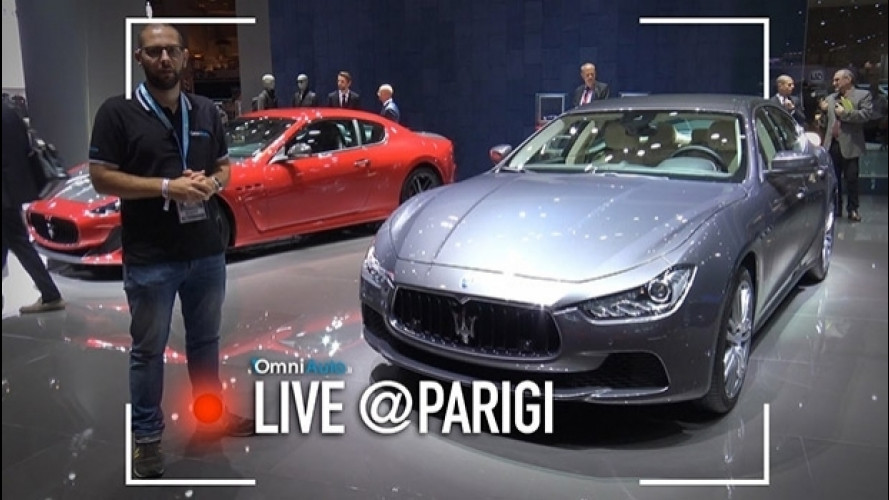 Salone di Parigi, dentro la Maserati Ghibli 2017 [VIDEO]