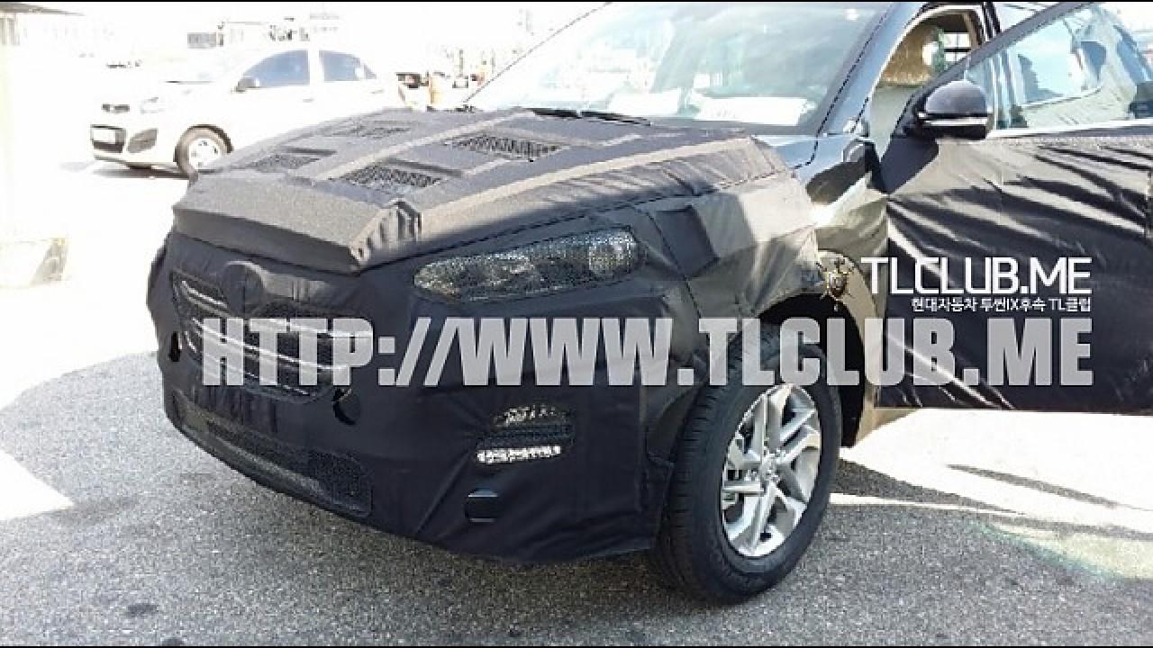 Flagra: novo ix35 com visual de Santa Fe é pego na Coreia do Sul