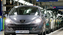 Millionth Peugeot 207 rolls off the line