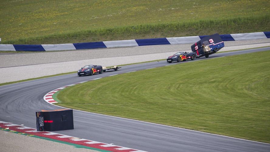 Los pilotos de Red Bull se enfrentan ¡en una carrera de caravanas!
