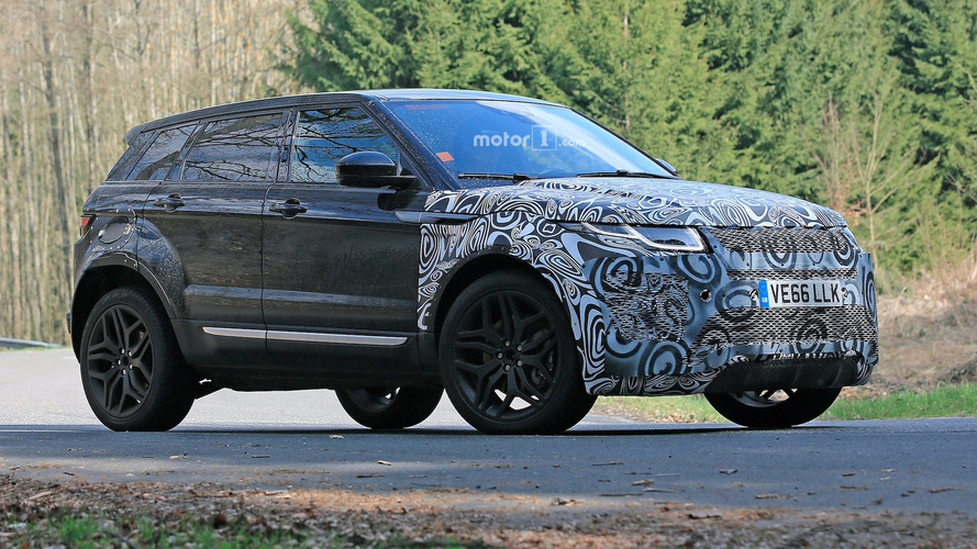 Range Rover Evoque Test Mule Spotted On The Street