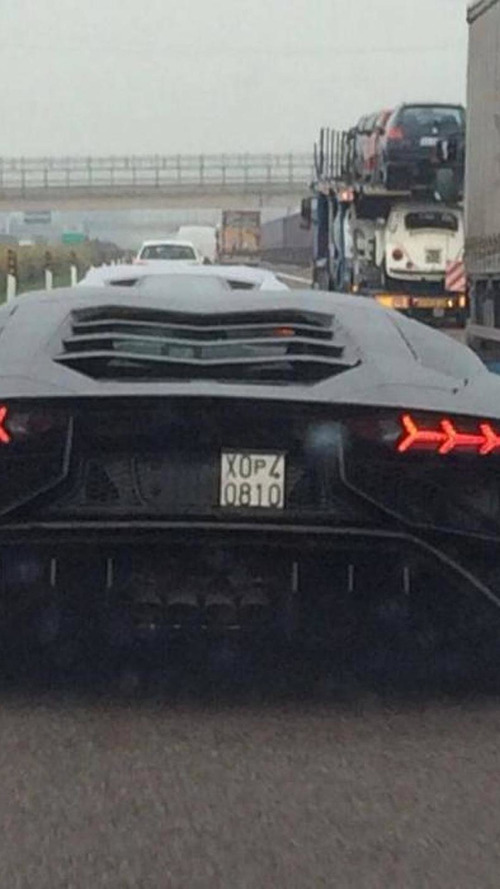 Lamborghini Aventador SV spied for the first time