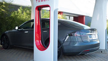 Tesla Model S at Supercharger