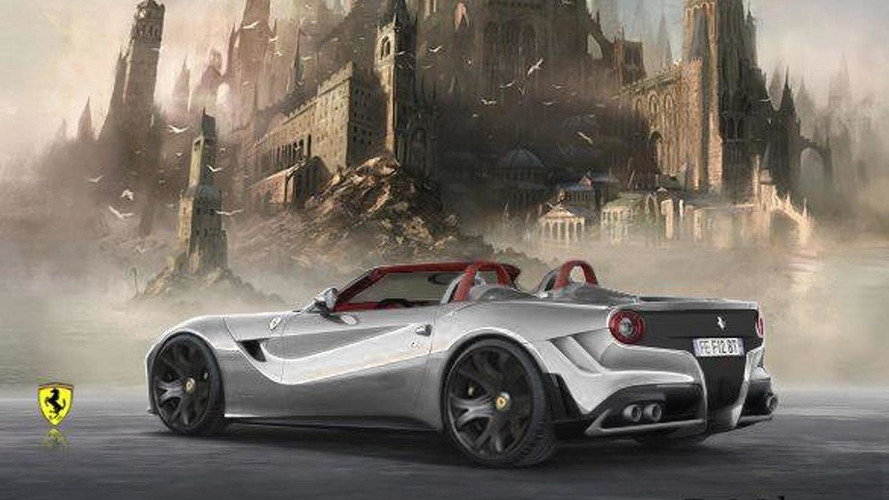 Ferrari F12 Berlinetta Spyder rendered & beefed up
