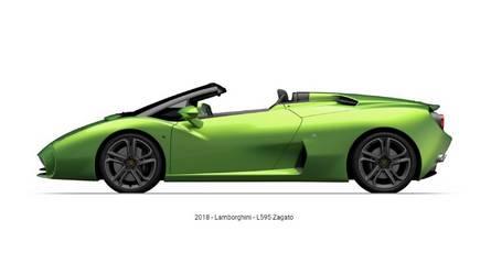 Kiszivárgott fotón a Lamborghini L595 Zagato Roadster