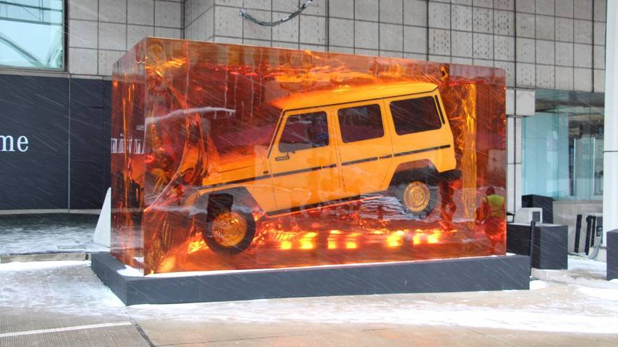 Mercedes Spares No Expense, Brings Resin-Covered G-Class To Detroit
