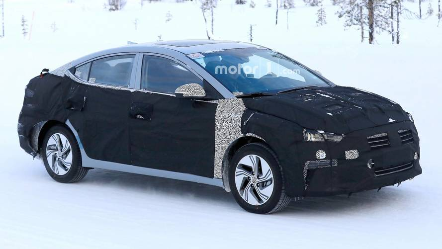 Hyundai Elantra EV Possibly Spied For The First Time