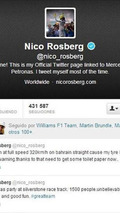 Nico Rosberg tire failure Tweet in Bahrain testing