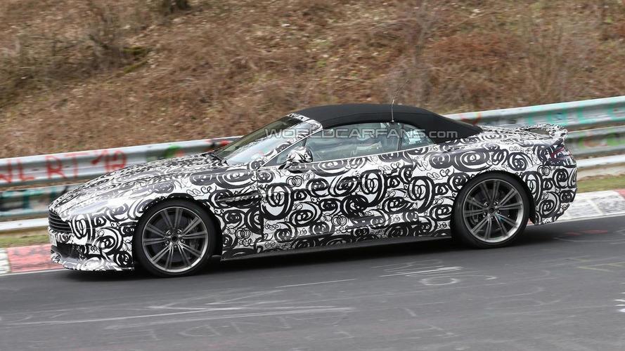 Aston Martin Vanquish Volante returns for spy photo session