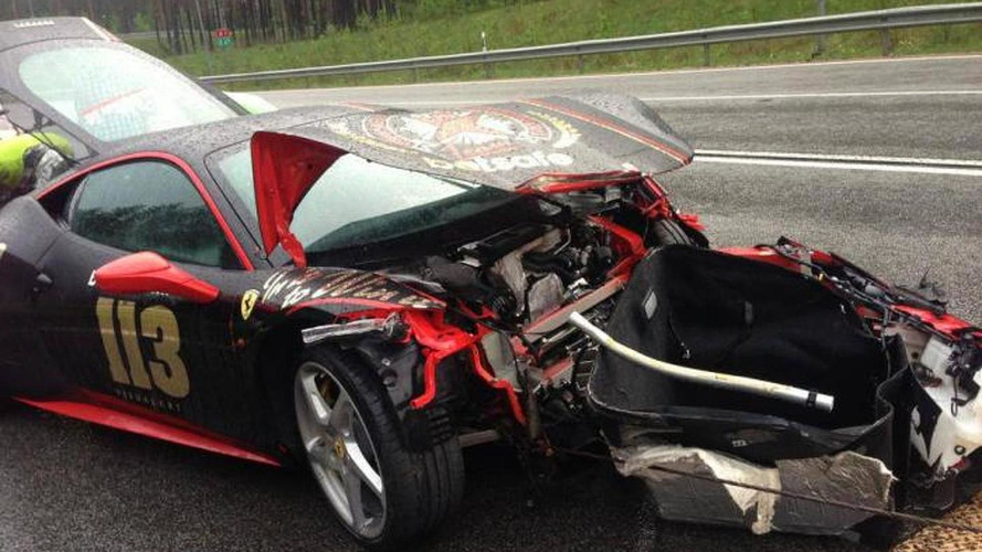 Ferrari 458 Italia is 2013 Gumball 3000 victim number two