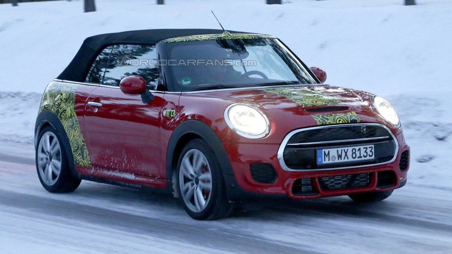 MINI JCW Convertible spied wearing minimal disguise
