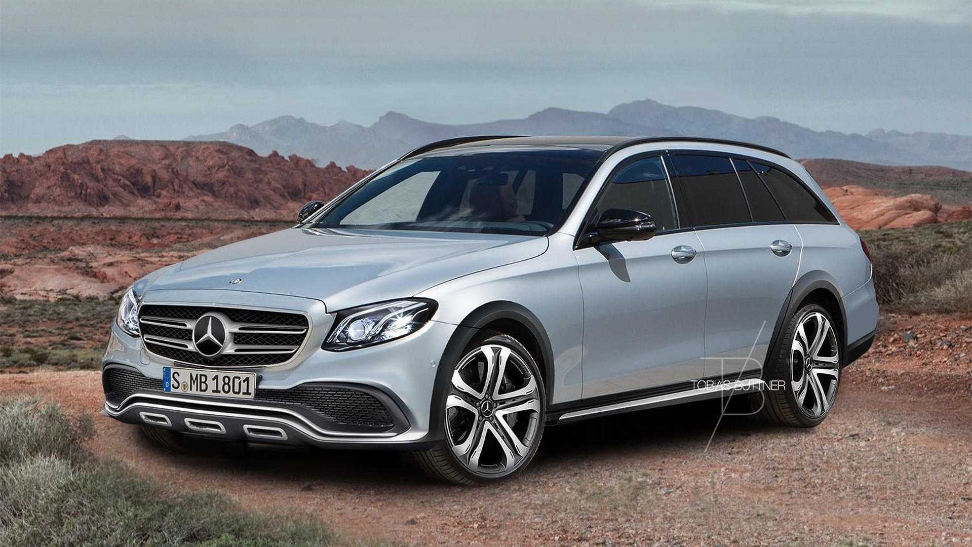 Mercedes E Class All Terrain Speculatively Rendered