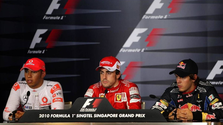 Alonso's face turns red after Vettel 'crashgate' joke