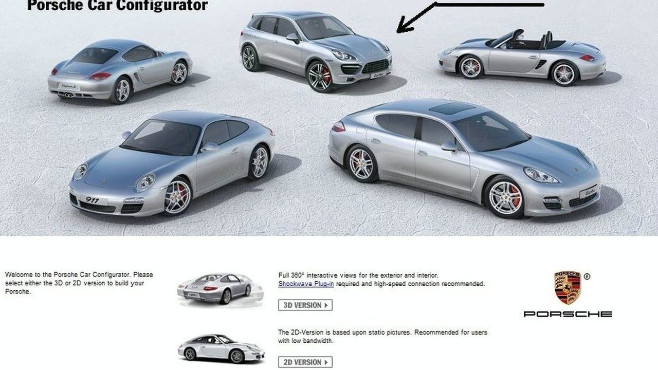 2011 Porsche Cayenne car configurator screenshot leak - 900 - 17.02.2010
