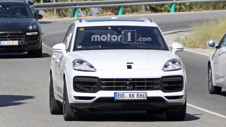 2018 Porsche Cayenne Blanc Photos Espion